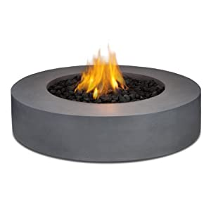 Real flame mezzo round propane fire pit table for Amazon prime fire pit