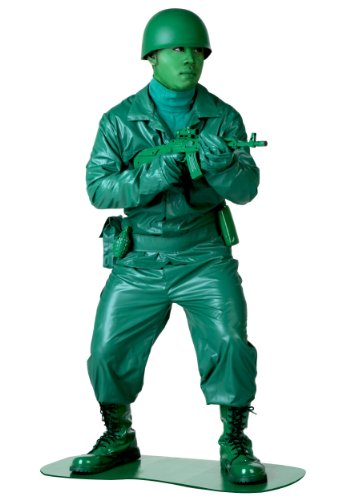 [Green Army Man Costume (Standard)] (Army Men Halloween Costumes)