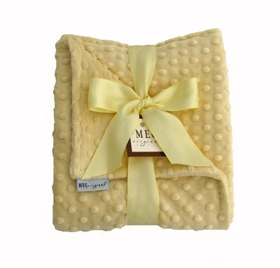 MEG Original Soft Yellow Minky Dot Baby Blanket 357