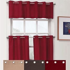 Essence Grommet Kitchen Curtains Valance Red Everything Else