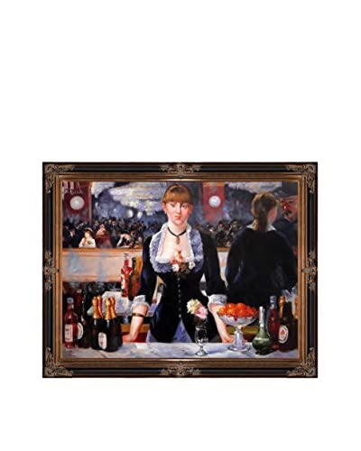 """Edouard Manet """"A Bar At The Folies-Bergere"""" Oil Painting"""
