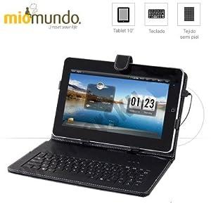 FUNDA PARA TABLET DE 10 PULGADAS CON TECLADO USB INCORPORADO