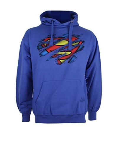DC Comics Kapuzensweatshirt Superman Torn Logo marine