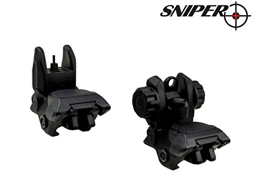 SNIPER Tactical Smart Polymer Picatinny Front And Rear Combo Set Flip Up Backup Model 4/5/16/15; Flattop A1 A2 Post (Ar Quad Rail Carbine Free Float compare prices)
