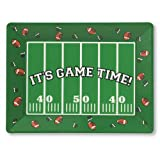 Creative Converting Its Game Time 14 x 10 Plastic Serving Tray Football