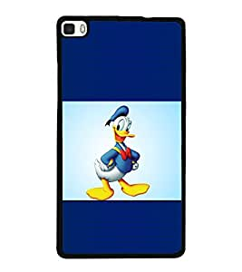 printtech Funny Designer Duck Back Case Cover for Huawei P8