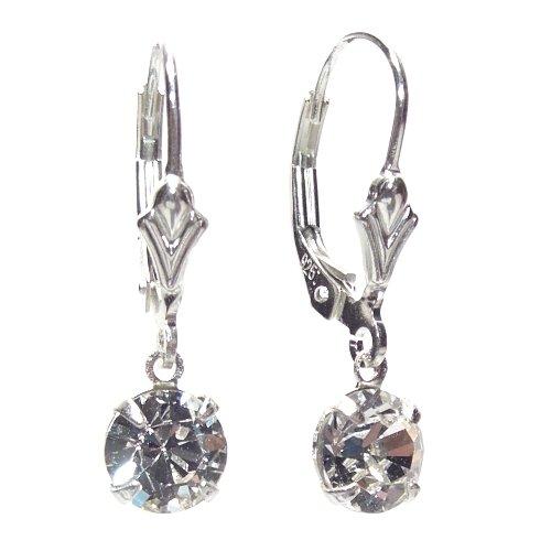 Petite Swarovski Crystal drop elements on Sterling