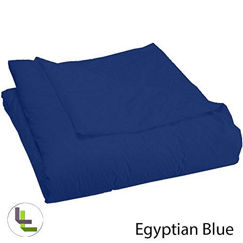 (titolo filato 400), gamma in cotone egiziano 100% , piumino in dotazione, elegante, Cotone, Egyptian Blue Solid, Single_Extra_Long