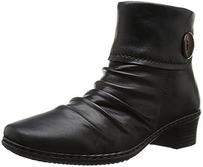 Rieker 74563-02 Schwarz Ladies Ankle Boot 42 Eu
