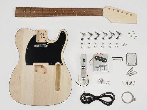 Telecaster Style Style Guitar Assembly Kit - Basswood Body - 22 Frets - Bolt On Neck (Kit-Te-10)