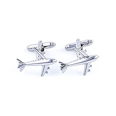 Jet Airplane Plane Commercial Jetliner Cufflinks with a Presentation Gift Box