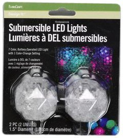 FloraCraft 2-Inch Submersible LED Lights, 2 Per Blister Pack, Batteries Included by FloraCraft (Floracraft Submersible Led Lights compare prices)