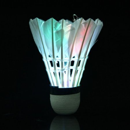 Firefly 4 Pcs Night Led Badminton Shuttlecock Birdies Lighting With Colorful Light Changing