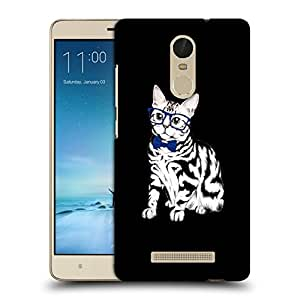 Snoogg Cat With Blue Glares Designer Protective Back Case Cover For REDMI NOTE 3