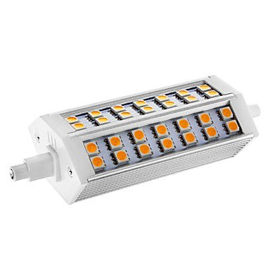 Dimmable R7S 10W 42X5050Smd 550Lm 2800-3000K Warm White Light Led Corn Bulb(Ac 110-130V)