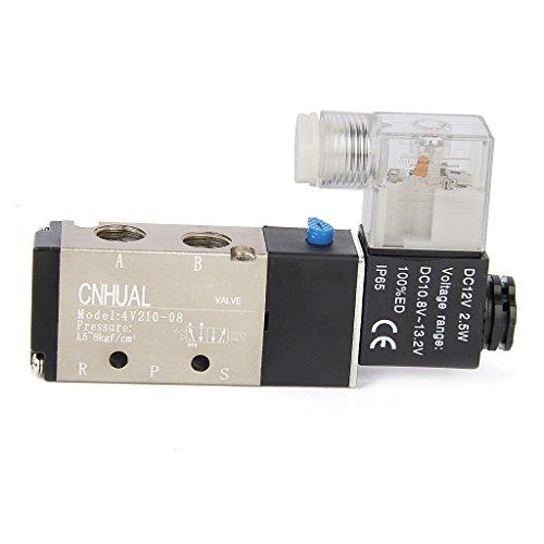 12V DC Magnetventil Luft Ventil 5 Port 2 Position 4V210-1-08