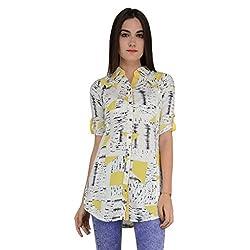 Terquois Printed cotton shirt(12674_Yellow_XL)