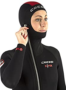 Cressi Tauchanzug Diver 5 mm mit Angesetzter Haube - Traje para deportes acuáticos