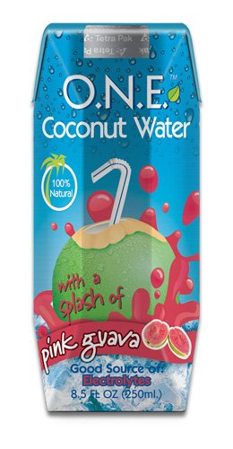 O.N.E. Coconut Water  a Splash of Pink Guava