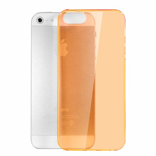 Moon Monkey Ultra-Thin Slim Transparent Skid Resistance Protective Cover Case For Iphone 5 5S (Mm369) (Orange)