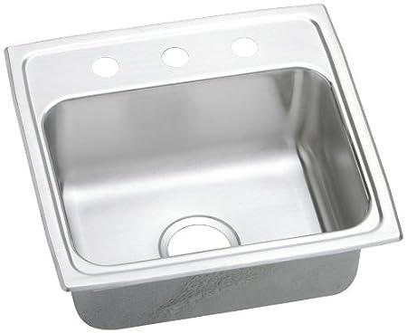 Elkay LRQ19183 Gourmet Lustertone Sink, Stainless Steel