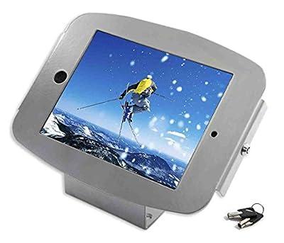 Maclocks Space Enclosure Kiosk with 45-Degree Mount for iPad 2/3/4, iPad Air, iPad Air 2, Silver (101S224SENS)