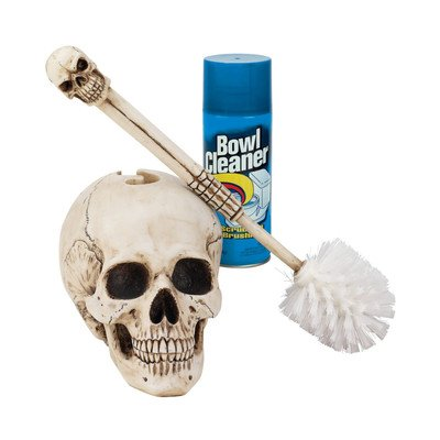 Bathroom Skullduggery Toilet Bowl Brush from Design Toscano