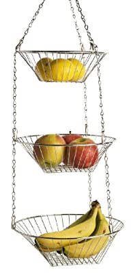 Home Basics Hanging Basket, 3-Tier, R…