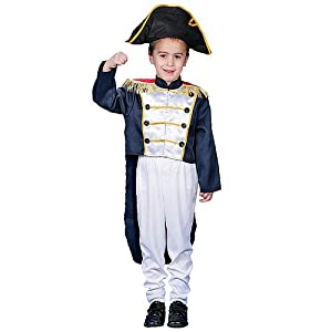 Boys Deluxe Historical Colonial Halloween Costume Dress Up Set 16/18