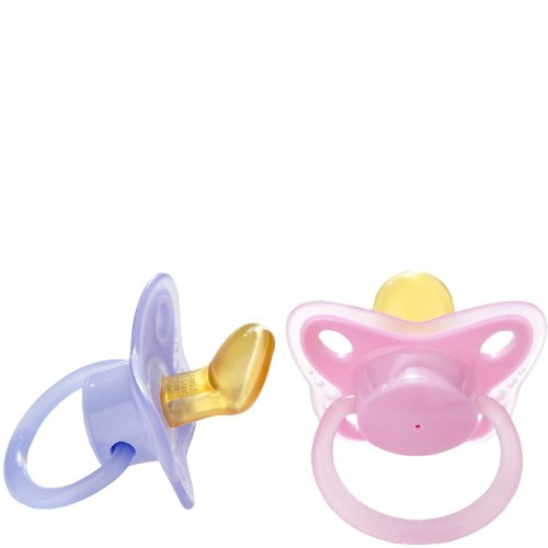Playtex Binky Latex Angles Pacifier - Pink/Purple - 0-24 Month front-1046626