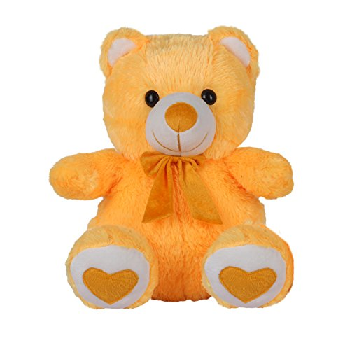 Kuddles-Spongy-Teddy-Bear-15-inches-Soft-Toy-Gifts-Yellow
