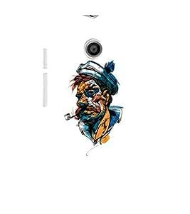 EPICCASE man with cigarette pipe Mobile Back Case Cover For Moto E (Designer Case)