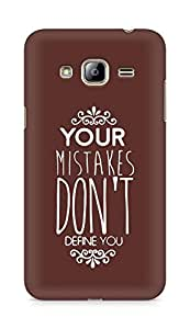 AMEZ your mistakes dont define you Back Cover For Samsung Galaxy J3 (2016 EDITION)