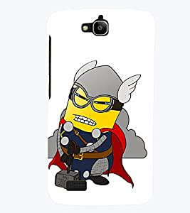 TOUCHNER (TN) Minion Fighter Back Case Cover for Huawei Honor Holly