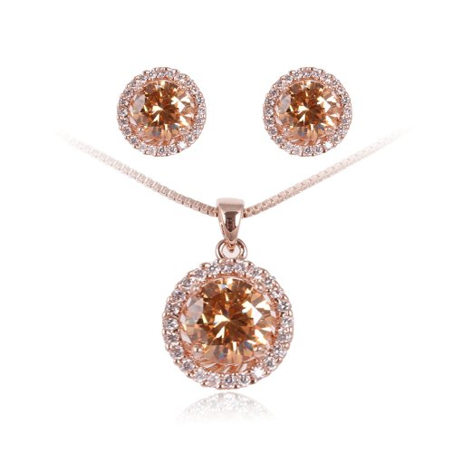 Fashion-Plaza-Christmas-Gift-Womens-Basket-Set-CZ-Necklace-and-Earring-Jewelry-Sets-S93