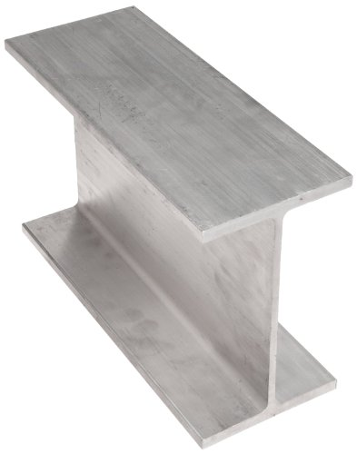 "Aluminum 6061-T6 I-Beam (Aluminum Association), 0.17"" Thick, 3"" Width, 4"" Height, 36"" Length"