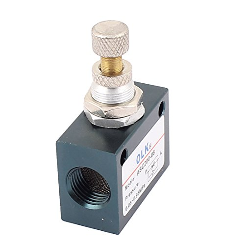 uxcell 1/4PT Thread Dia Single Way Pneumatic Hydraulic Flow Control Valve