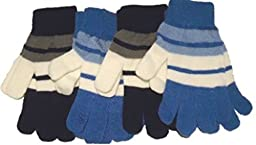Four Magic Stretch Gloves for Children Ages 5-10 Years