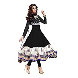 Krishna Present All New wedding Wear Embroidered Black Color Dress Meterial.