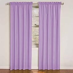 Eclipse Kids Wave Blackout Window Curtain Panel, 84-Inch, Purple