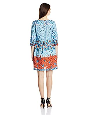 Rain and Rainbow Women's Pleated Dress by Gulshan Fashions