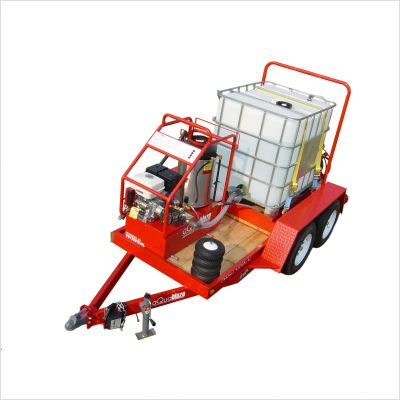 aQuaBlaze Trailer Mounted Hot Water Pressure Washer and Sandblaster Soap Tank: 50 Gallon Soap Tank, Engine: AB4037DDF12V with Yanmar L100V, Cat 4SF40GS1 pump