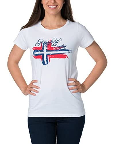 Geographical Norway T-Shirt Manica Corta [Bianco]