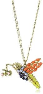 "Rodrigo Otazu ""DNA"" Mix of Color Humming bird Pendant Necklace"