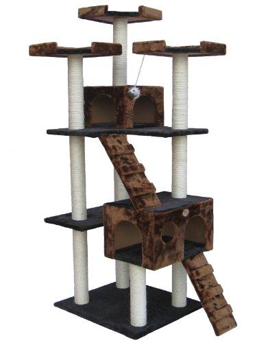 Go Pet Club 72″ Cat Tree Condo Furniture Brown/Black Color