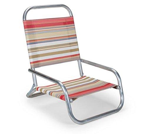 Fiesta Stripe Sun & Sand Low Boy Chaise Beach Chair - Made In The Usa
