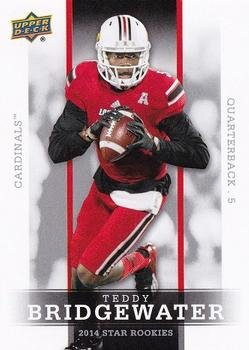 2014 Upper Deck Star Rookies #5 Teddy Bridgewater - Louisville Cardinals / Minnesota Vikings (RC - Rookie Card)(Football Cards)