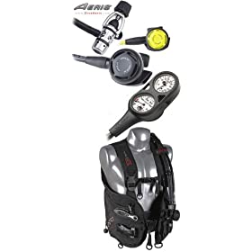 Aeris Competition | Scuba Gear Package | Regulator, Octo, BCD & Gauges