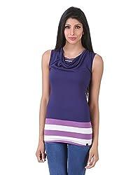 Juelle Women's Blended DK Purple Top