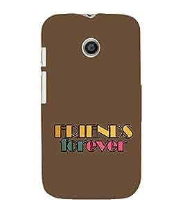 EPICCASE friends Mobile Back Case Cover For Moto E (Designer Case)